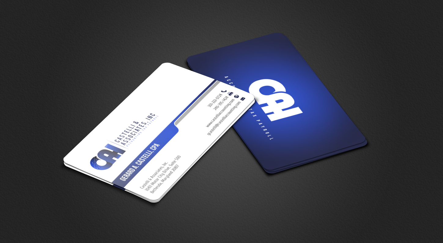 Masculine, Upmarket, Accounting Business Card Design for a Company ...
