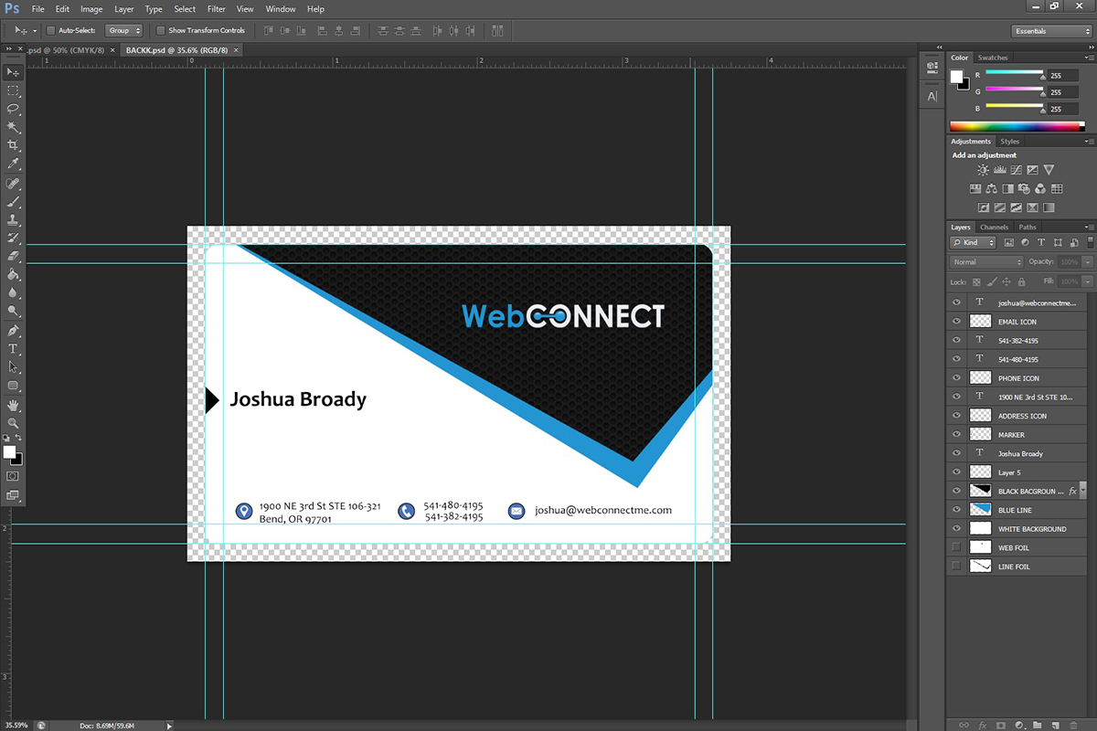Professional, Modern Business Card Design for WebConnect by ...