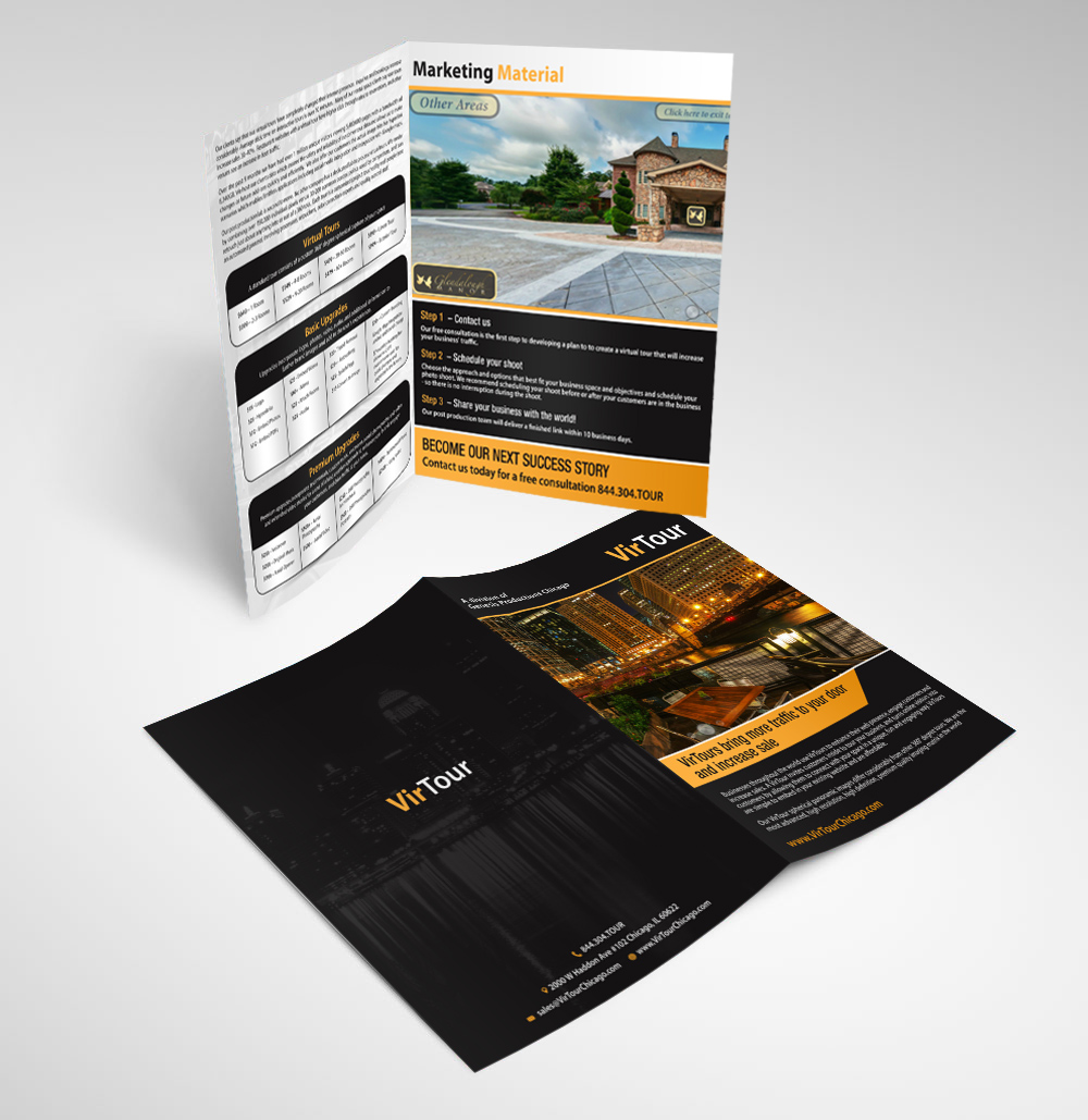 modern professional promotional product brochure design for a