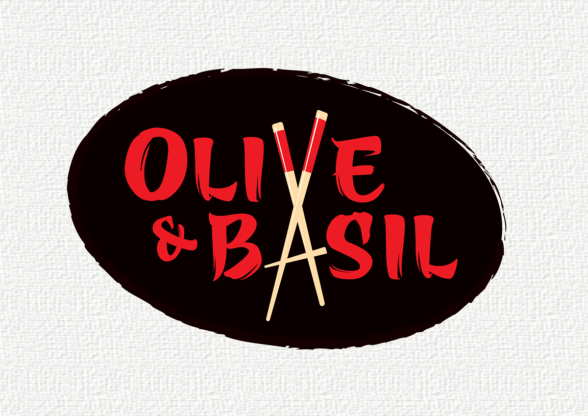 Elegant Modern Restaurant Logo Design For Olive And Basil By