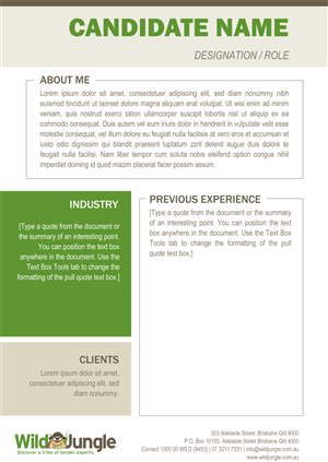 Resume Design by Going Postal