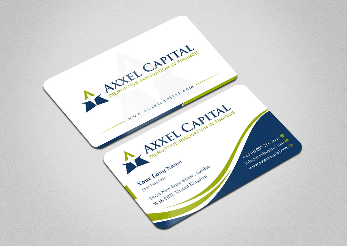 Elegant, Playful, Finance Business Card Design for a Company by ...