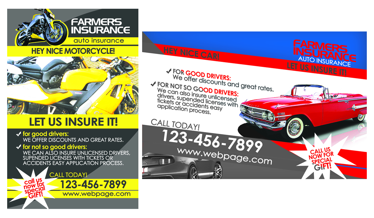 Bold Modern Insurance Flyer Design For A Company By Dirty Emm