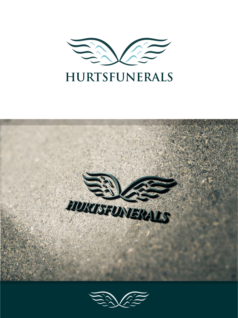 elegant, playful logo design for hurt''s funeral homelelevien