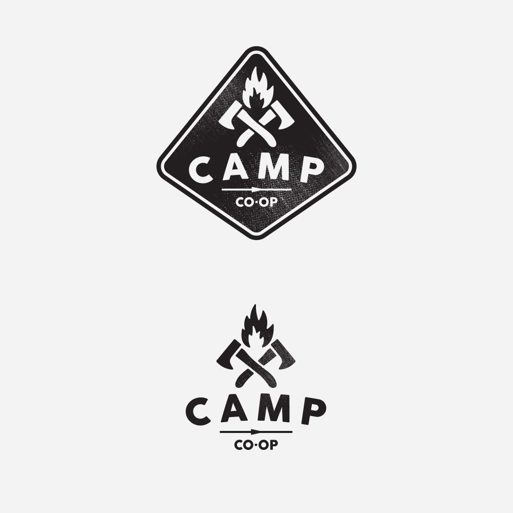 modern conservative logo design for camp coop by bakus