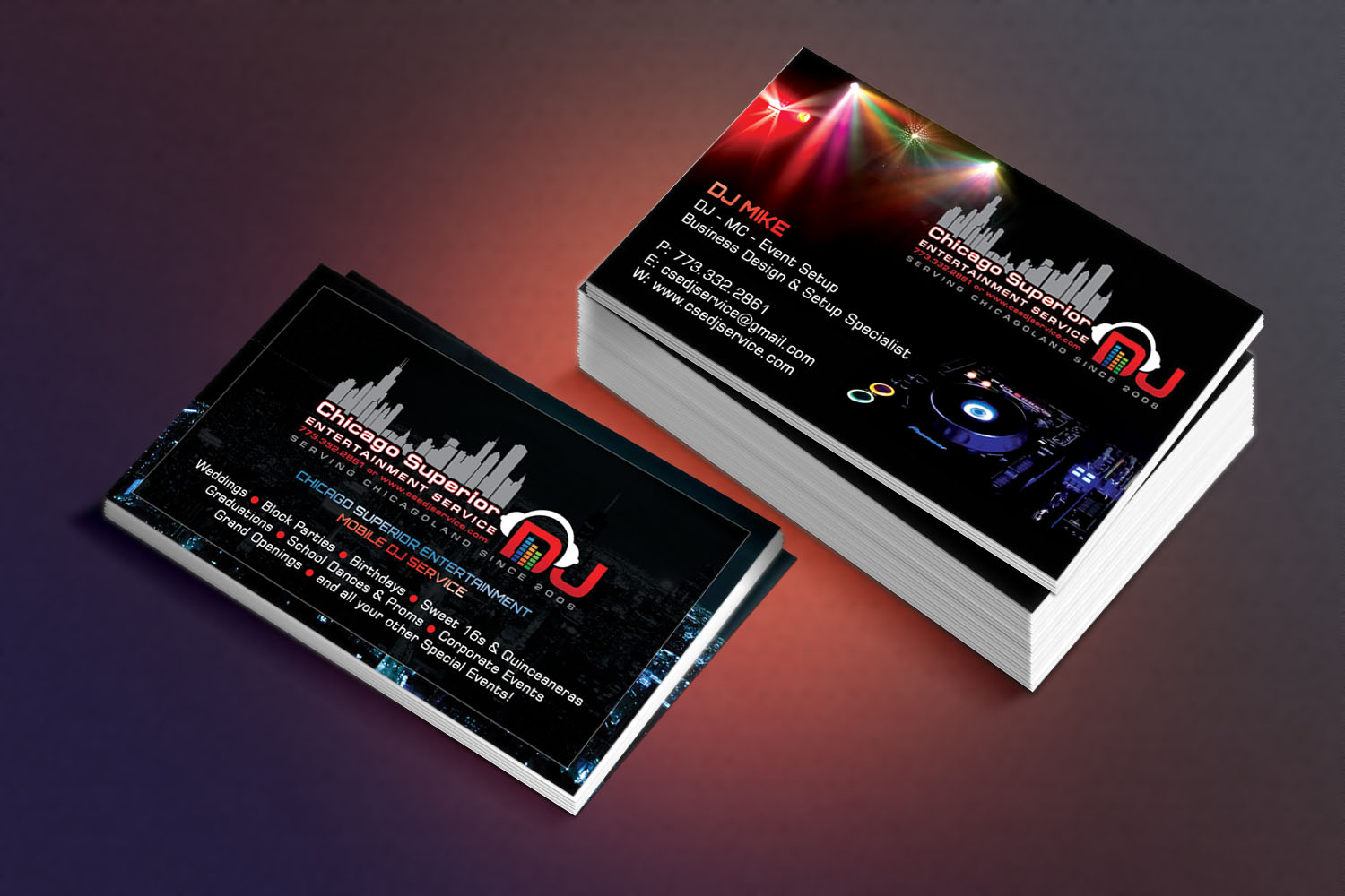 Modern, Elegant, Entertainment Business Card Design for a Company by ...