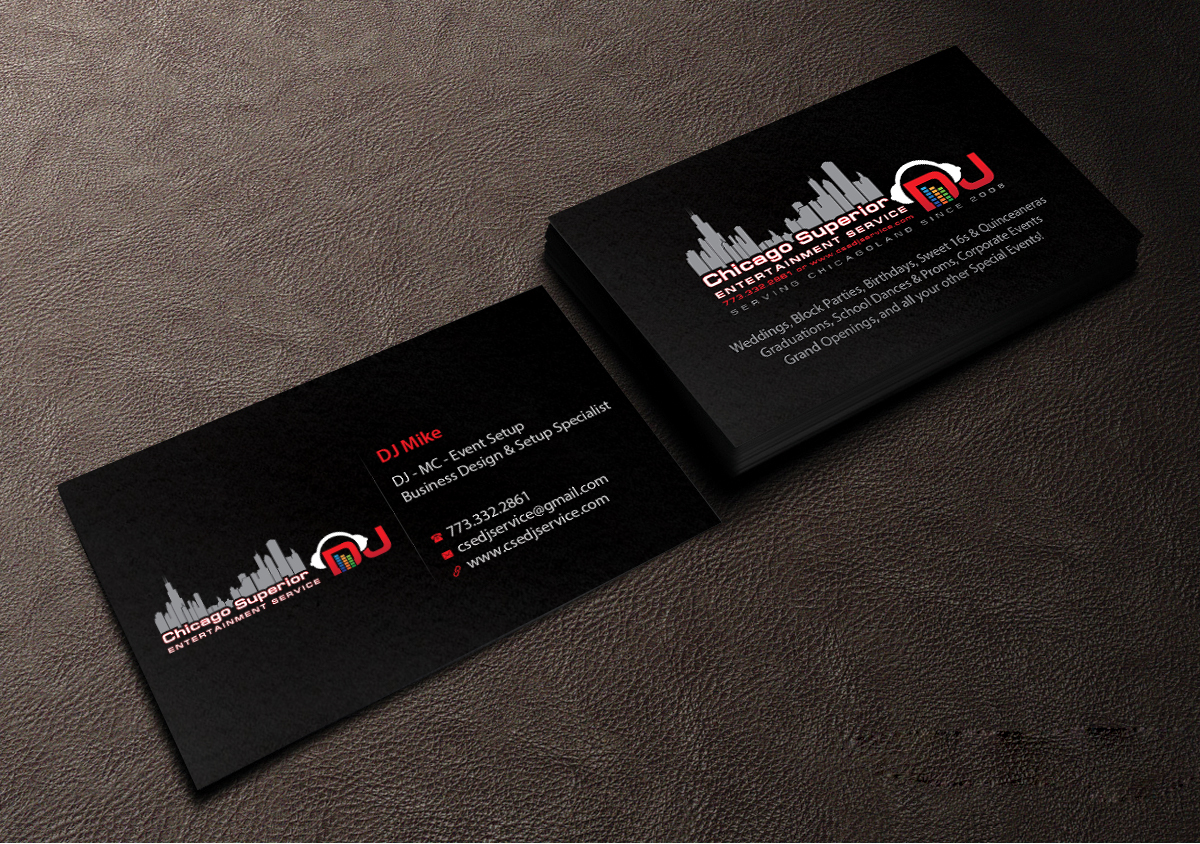 Modern elegant entertainment business card design for a company by business card design by creations box 2015 for this project design 7363935 reheart Image collections
