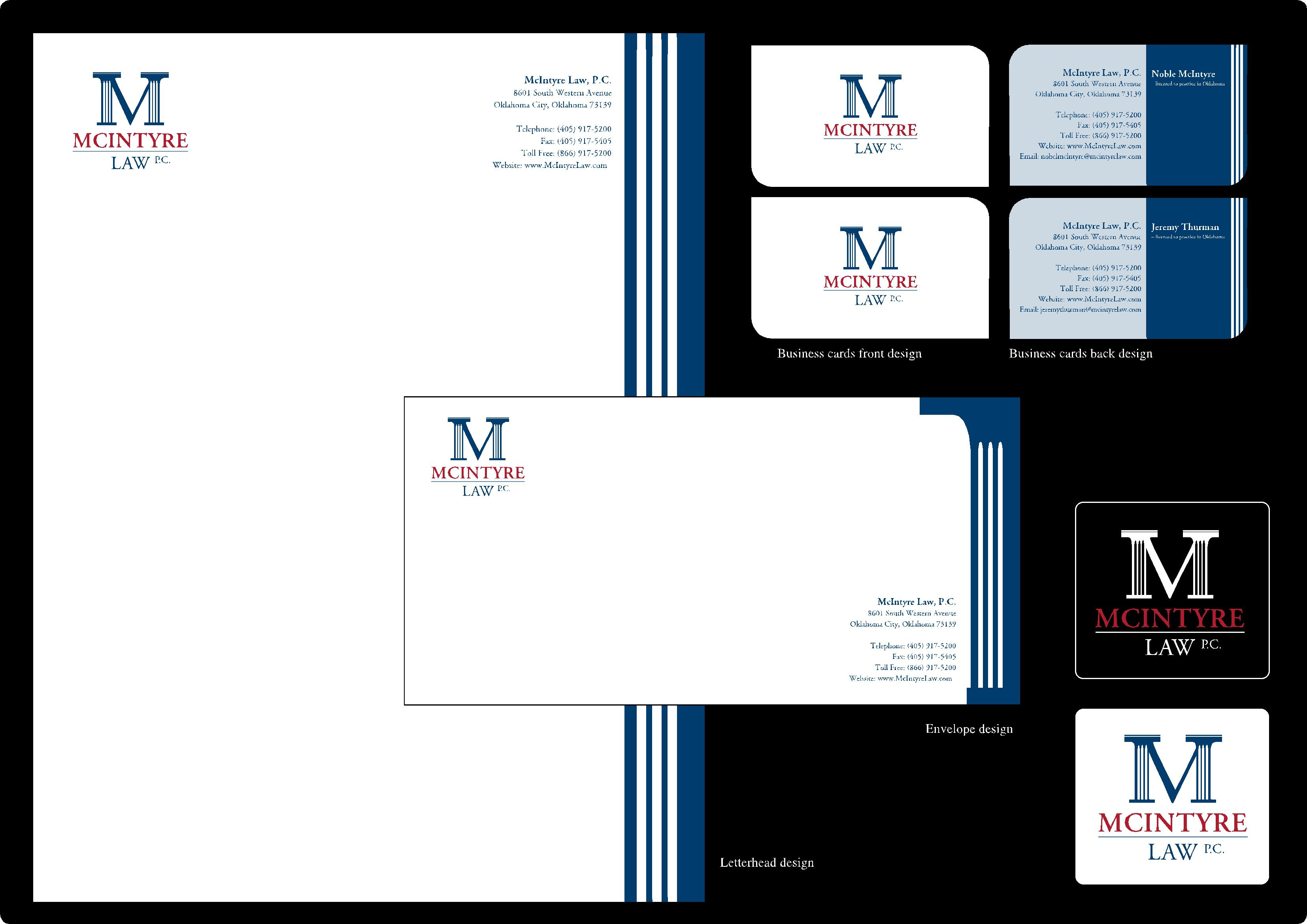 stationery design for mcintyre law p c by ng kia hui