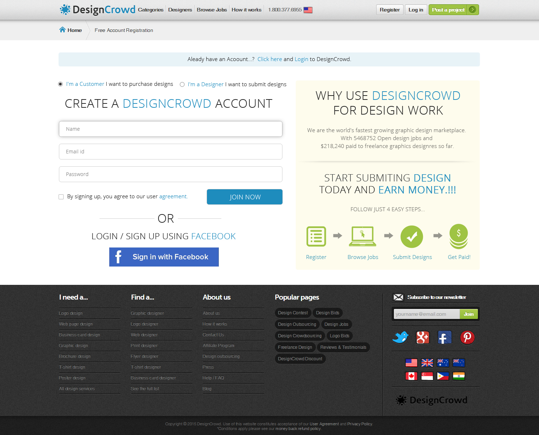 Designcrowd com login