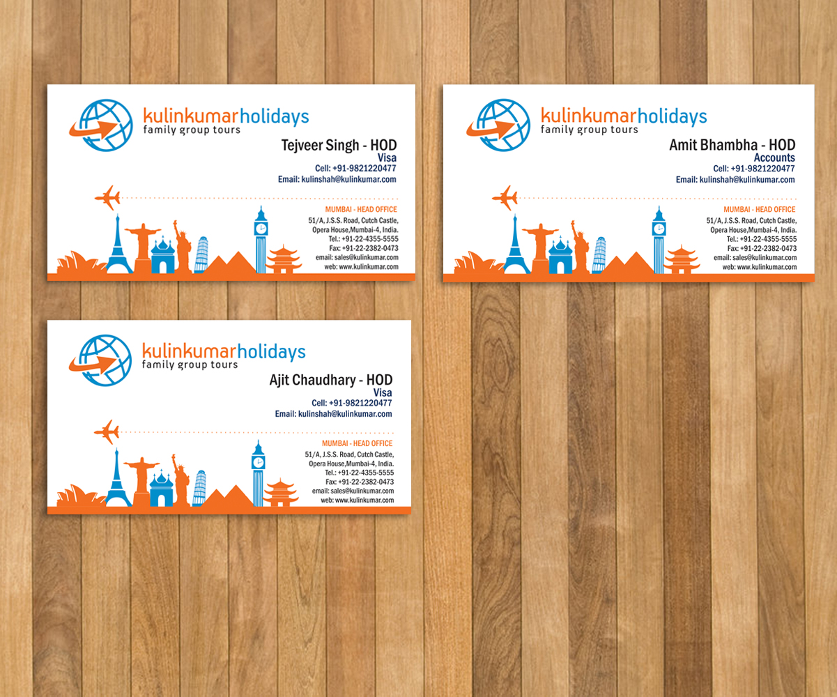 Playful, Modern, Travel Agent Business Card Design for a Company by ...