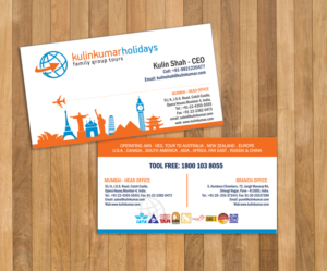92 playful business card designs travel agent business card design business card design by lucims for this project design 7463626 colourmoves