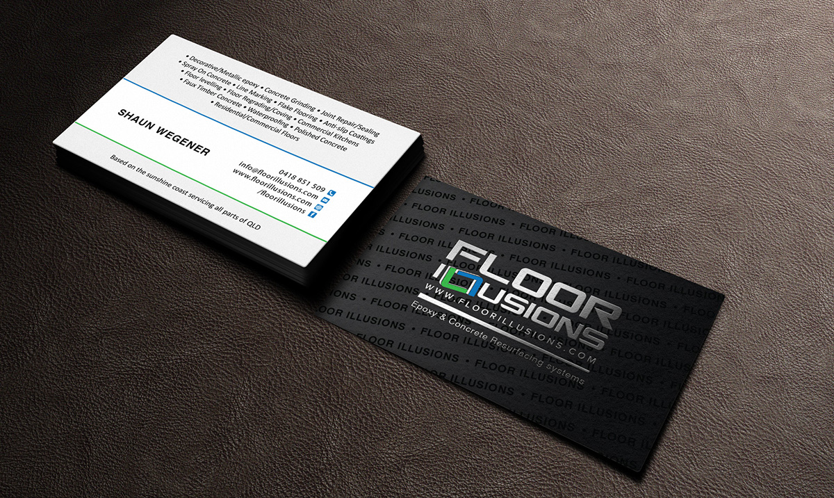 bold serious business business card design for a company in australia design 7567975 - Flooring Business Cards