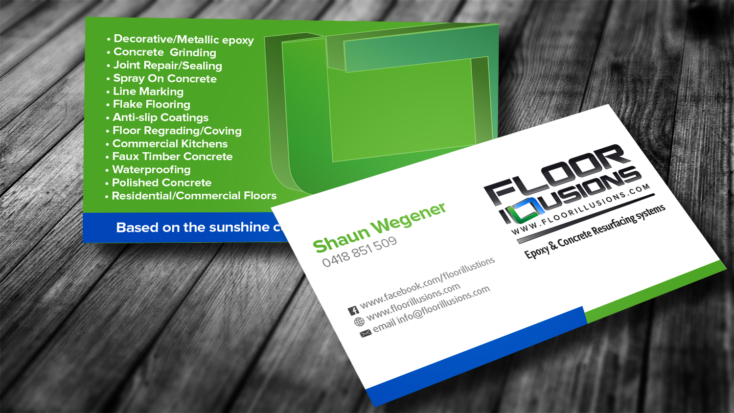 bold serious business business card design for a company in australia design 7514010 - Flooring Business Cards