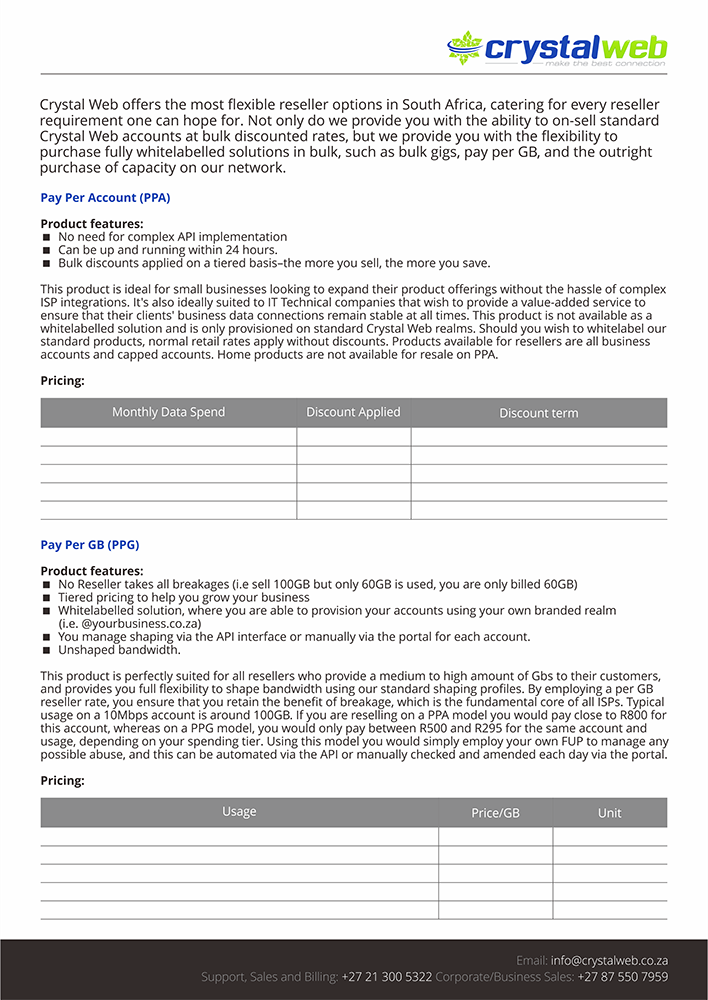 Modern, Professional, Internet Service Provider Brochure