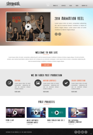Professional, Upmarket, Film Production Web Design for Sleepy Oak