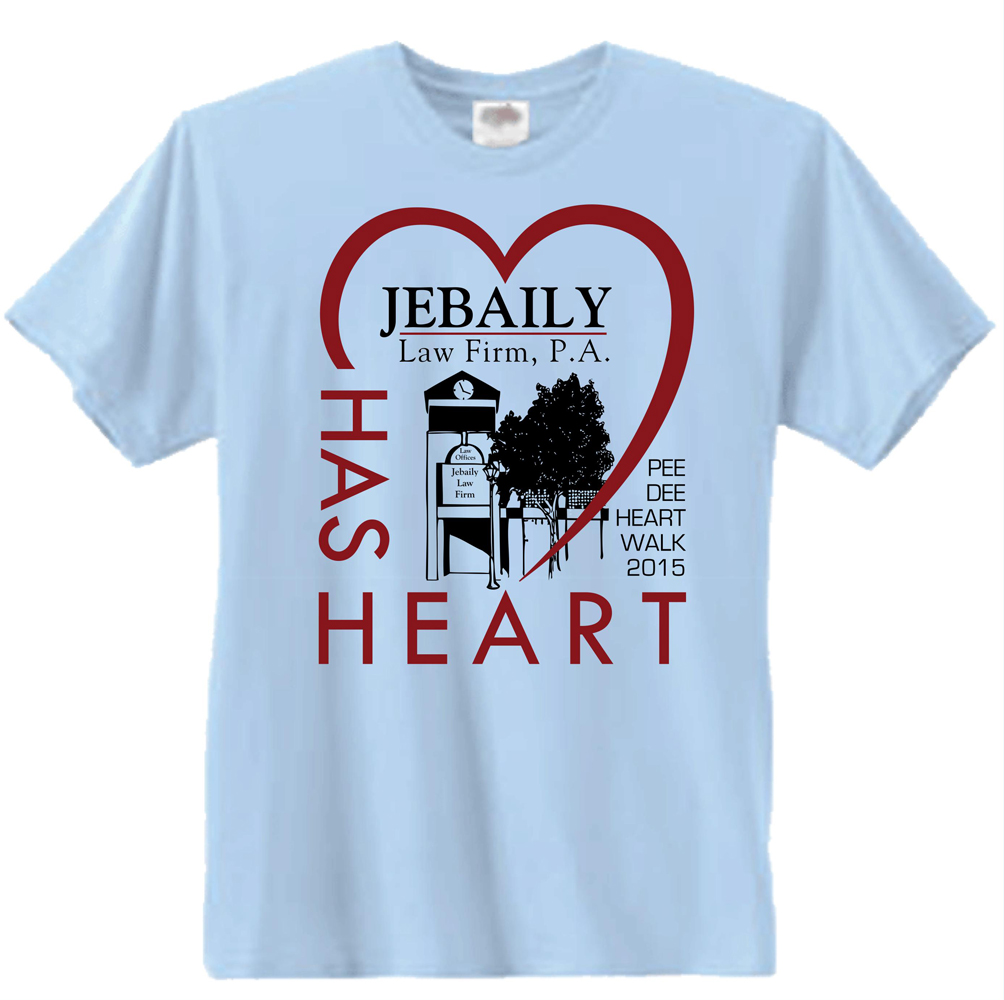 Heart Walk T Shirt Designs | Elegant Spielerisch Law Firm T Shirt Design Fur A Company Von