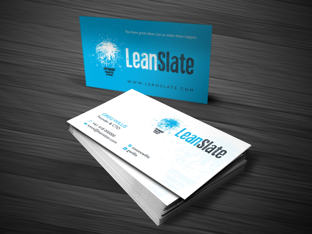 Bold, Modern Business Card Design for LeanSlate by Atvento ...