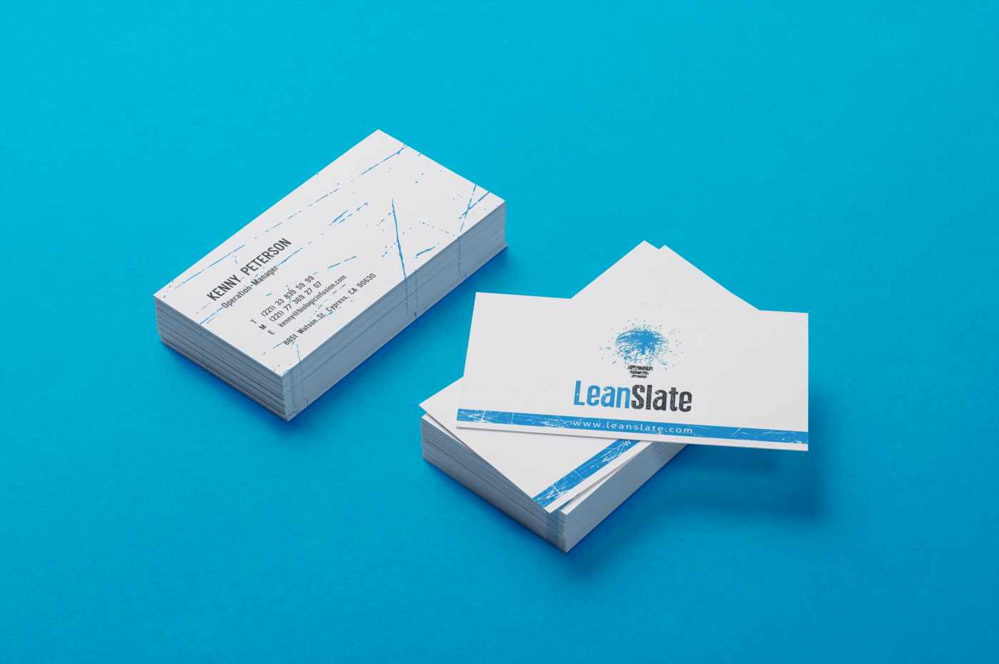 Bold, Modern Business Card Design for LeanSlate by HYPdesign ...