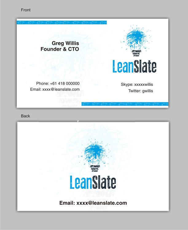 Fett Modern Business Visitenkarten Design Für Leanslate