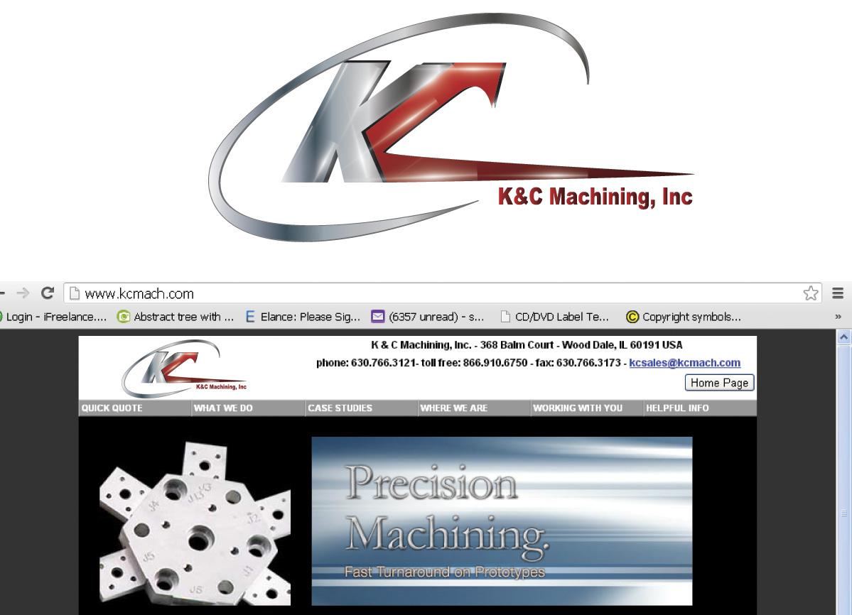 Modern Professional It Company Logo Design For Kc Machining Inc