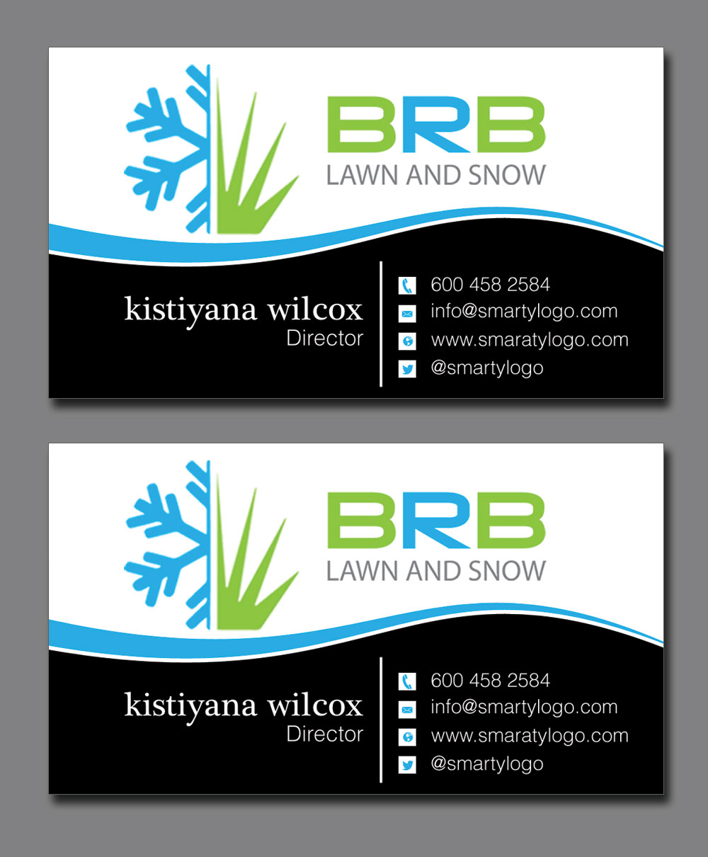 Business Card Design By Lanka Ama For Lawn Care And Snow Removal Company