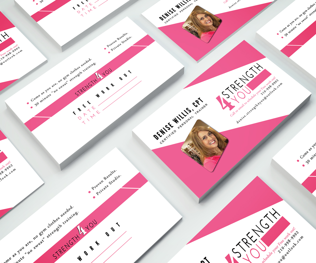 Bold, Feminine Business Card Design for Strength4You by JK18 ...
