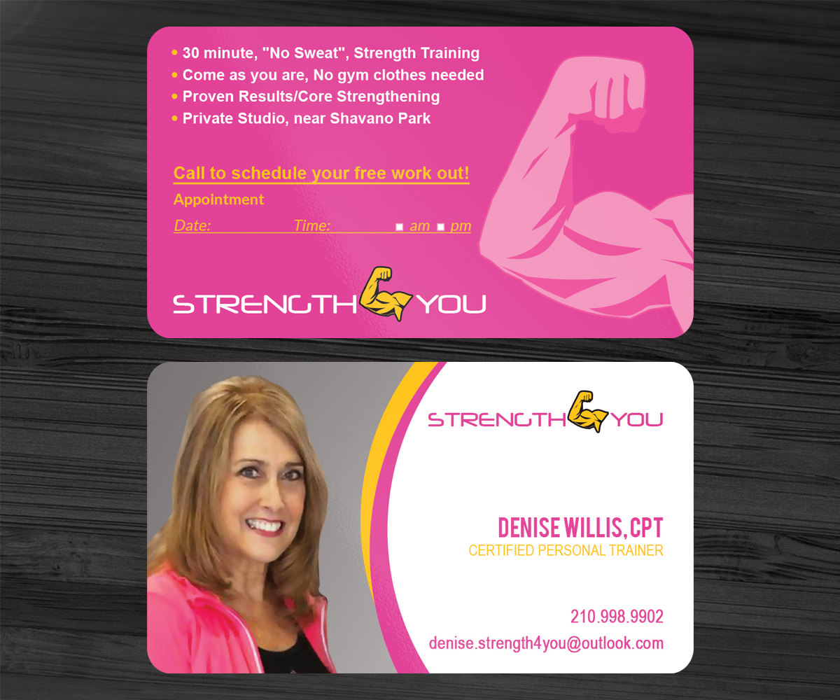 Personal Trainer Business Card Design Galleries for Inspiration