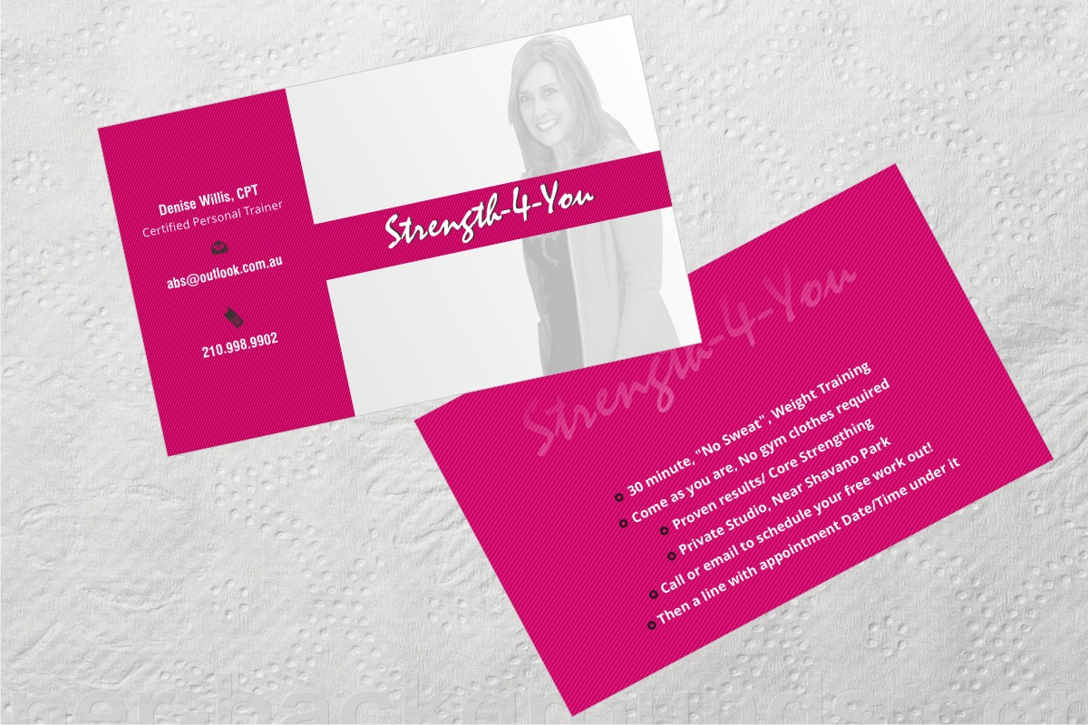 Bold, Feminine Business Card Design for Strength4You by Anil ...