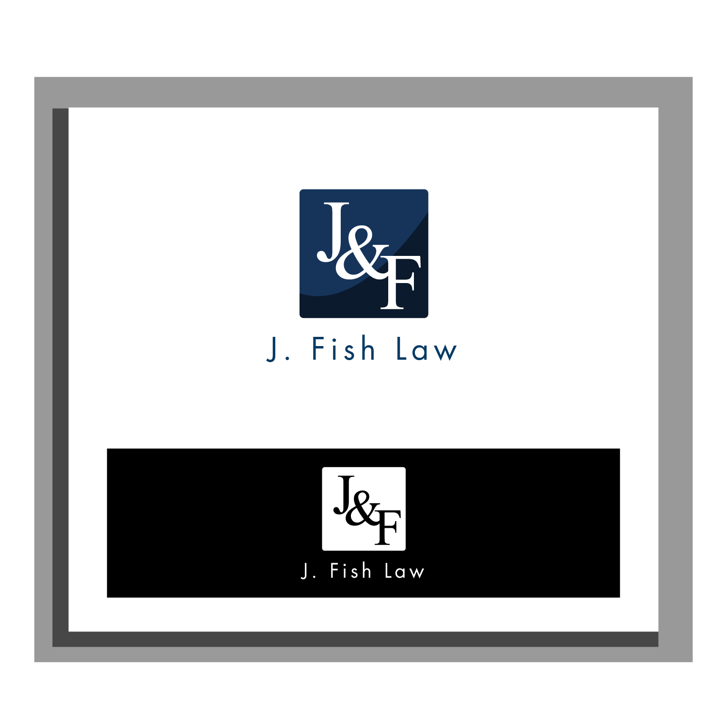 Elegant spielerisch logo design for leah fish by for Fish law firm