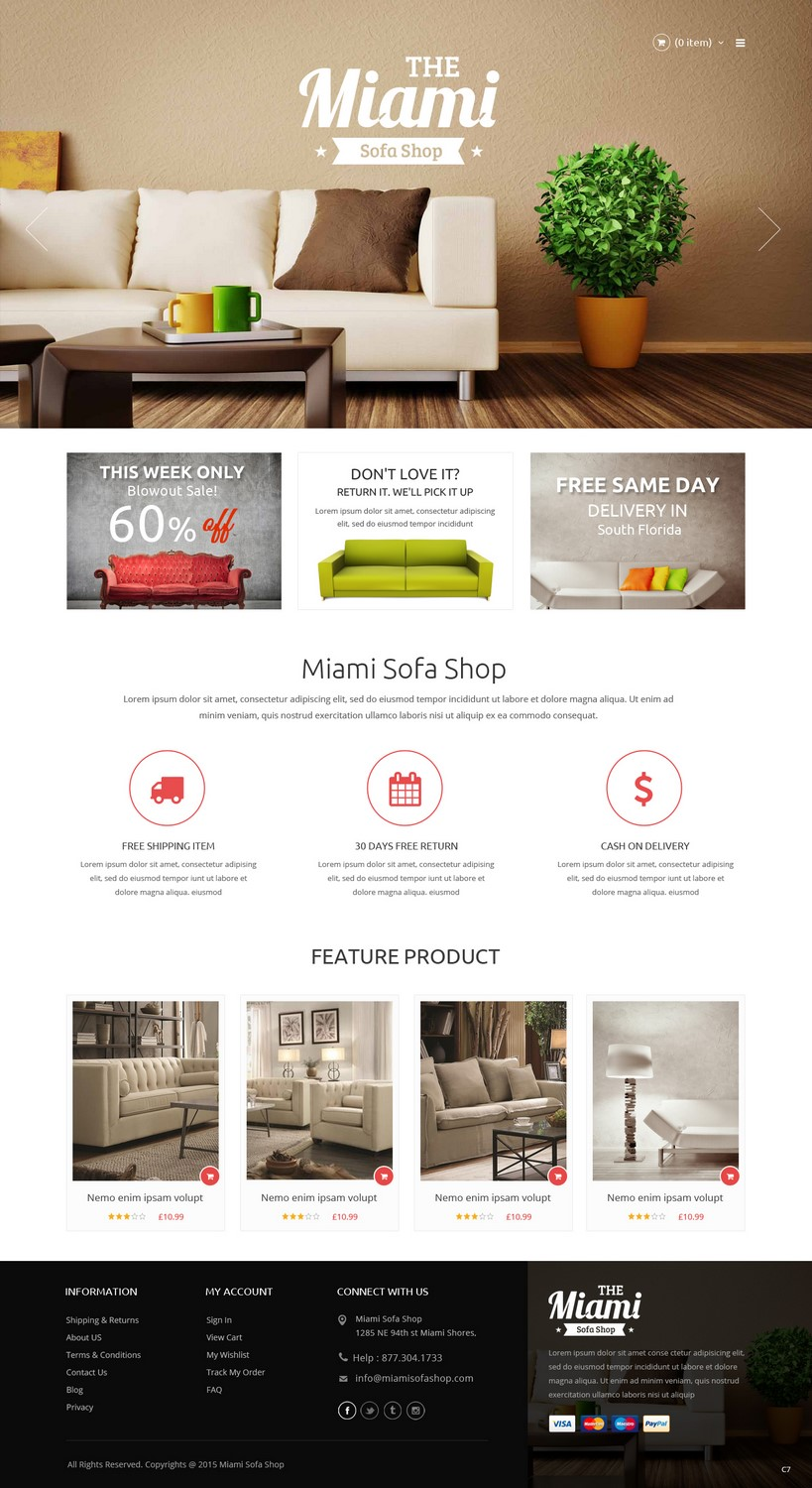 Serious, Modern, Furniture Store Web Design For A Company In United States  | Design 7372316