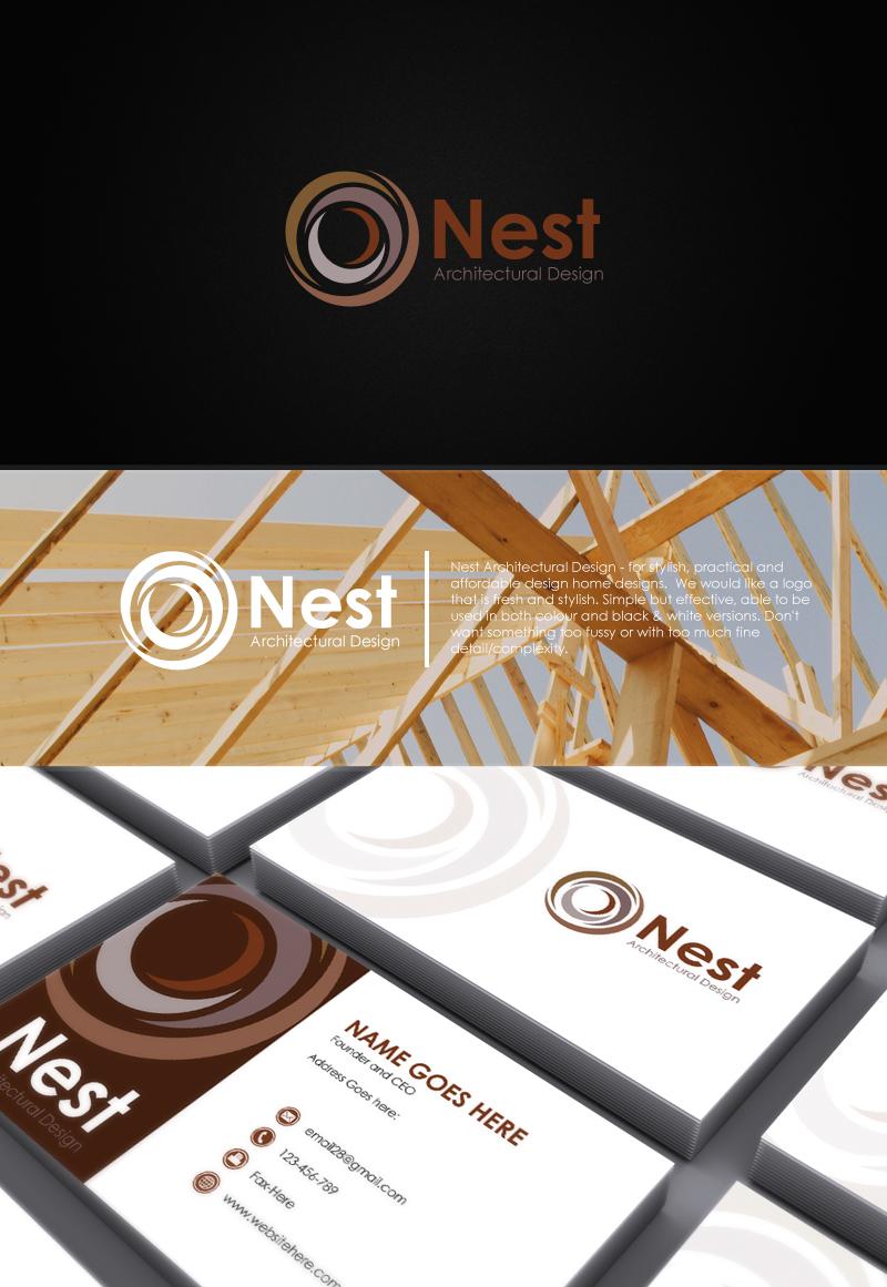 Bold, Playful, Architecture Logo Design for Nest