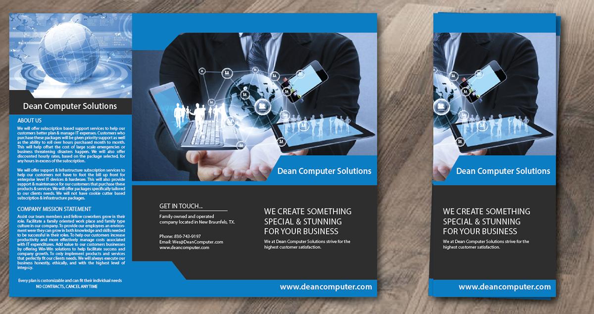 modern professional information technology brochure design for