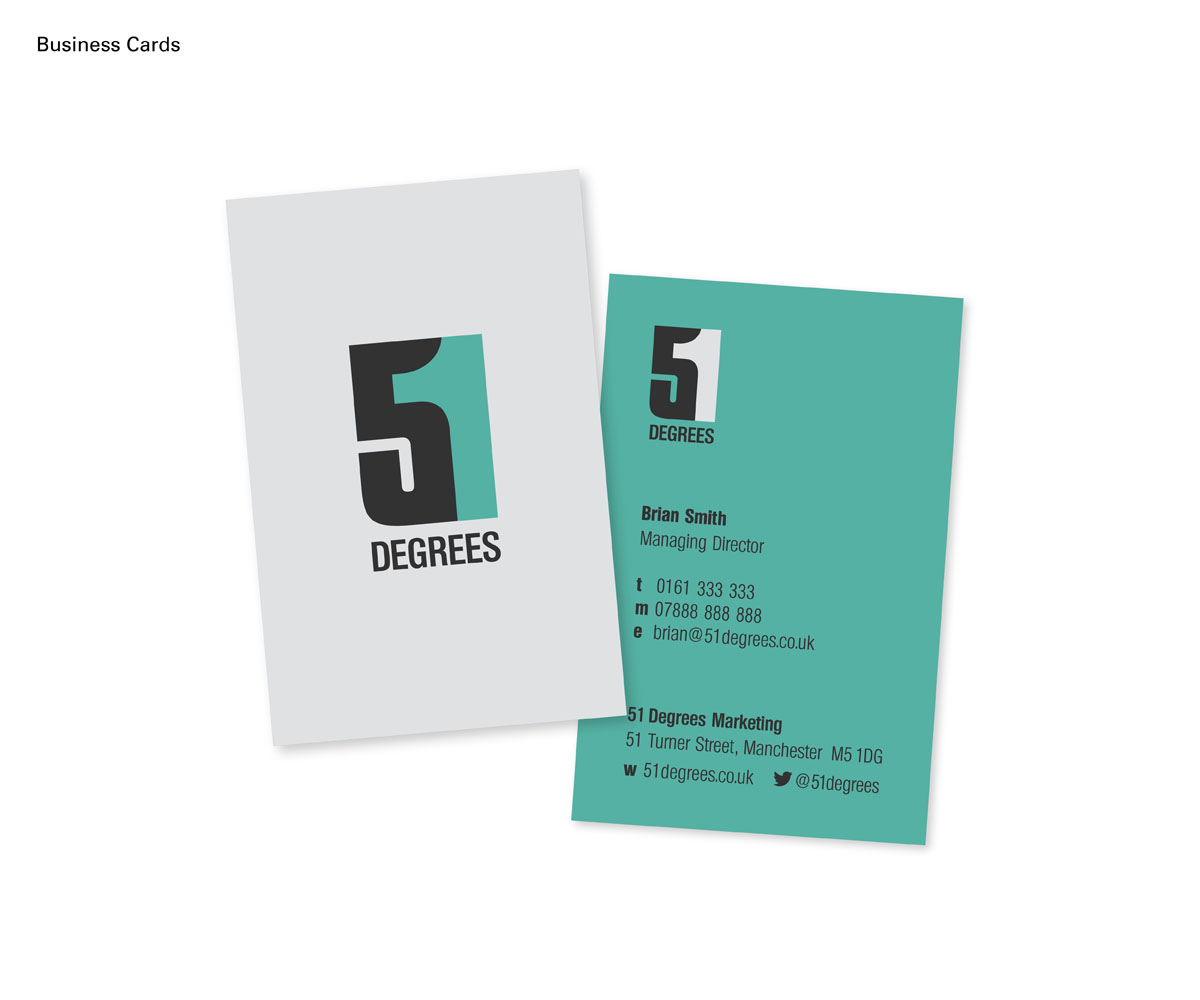 Modern Upmarket Communication Logo Design For 51 Degrees Degrees