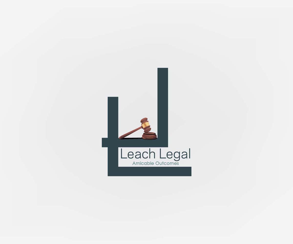 Professional Upmarket Legal Logo Design For Leach Legal Company