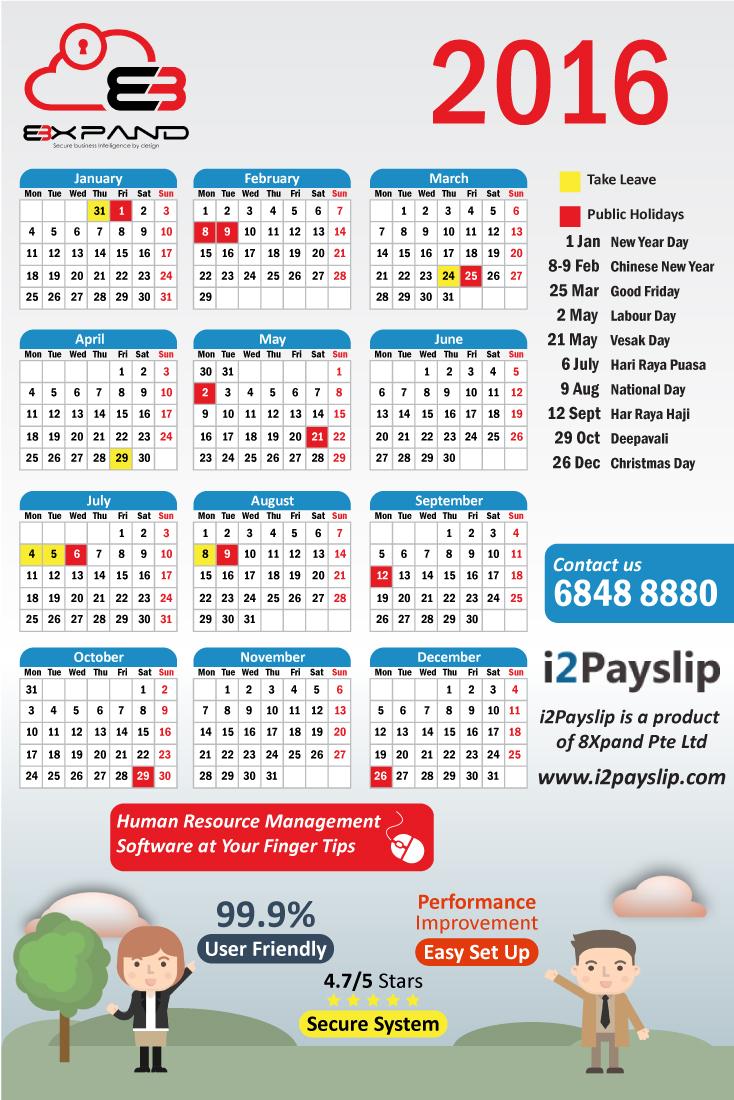 Modern, Professional, It Company Calendar Design for ...