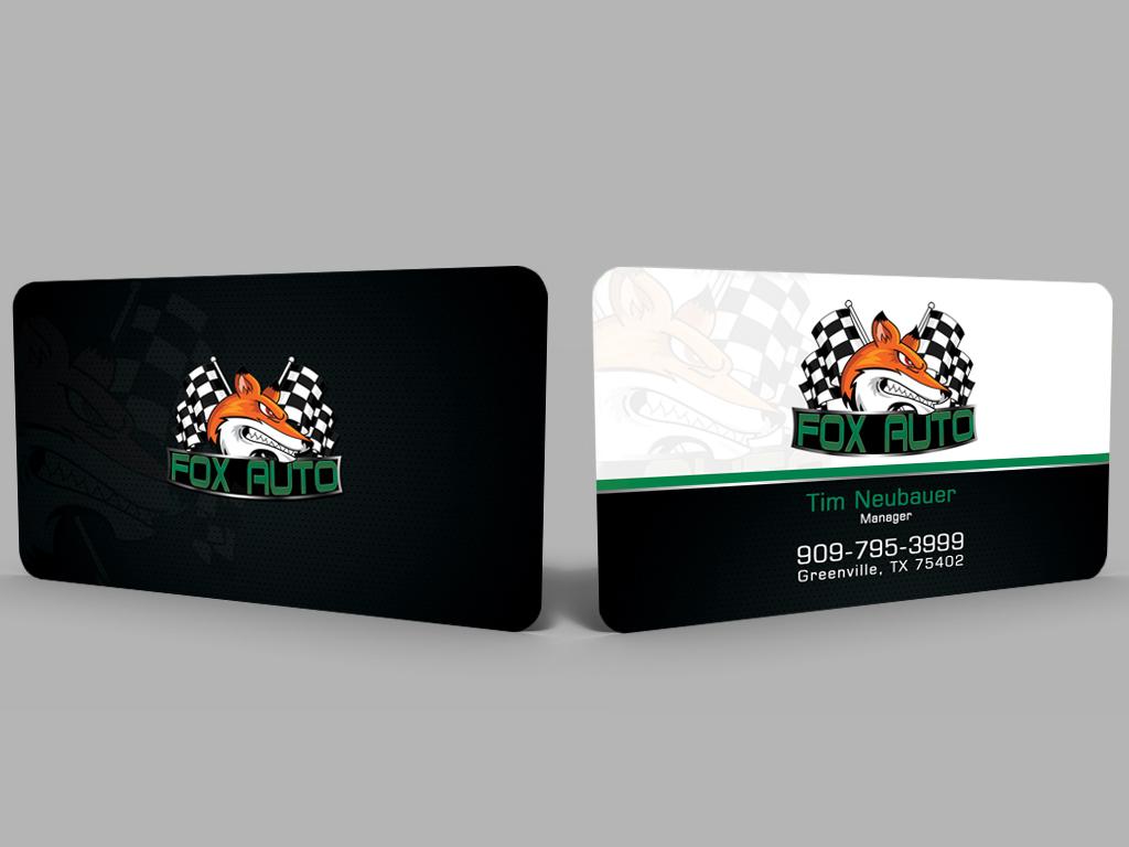 79 business card designs business business card design project for business card design by hardcore design for fox auto design 7420242 reheart Images