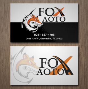 79 business card designs business business card design project for business card design by creation lanka for fox auto design 7389474 reheart Images