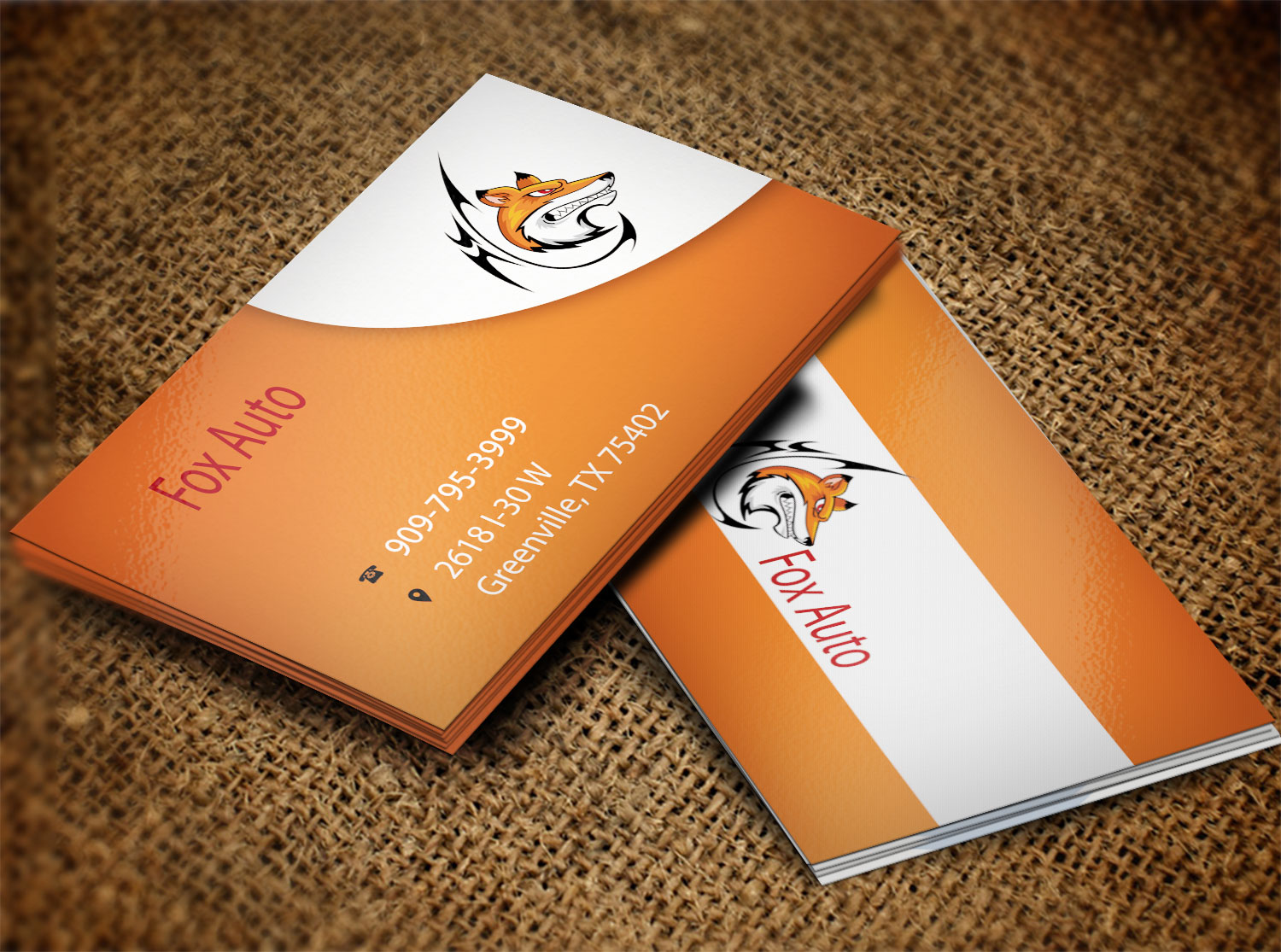 Business business card design for fox auto by creation lanka business business card design for fox auto in united states design 7389478 reheart Images