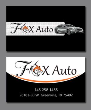 79 business card designs business business card design project for business card design by creation lanka for fox auto design 7393549 reheart Images