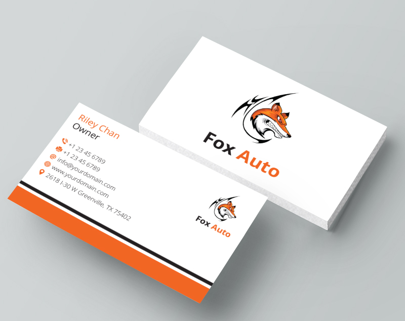 Business business card design for fox auto by mjsteadfast design business business card design for fox auto in united states design 7397157 reheart Images