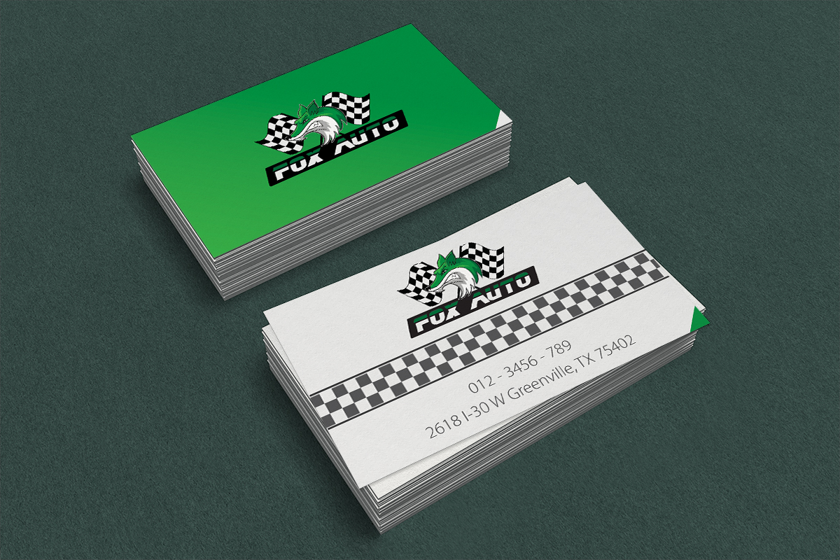 Business business card design for fox auto by vincent vu design business business card design for fox auto in united states design 7400557 reheart Images