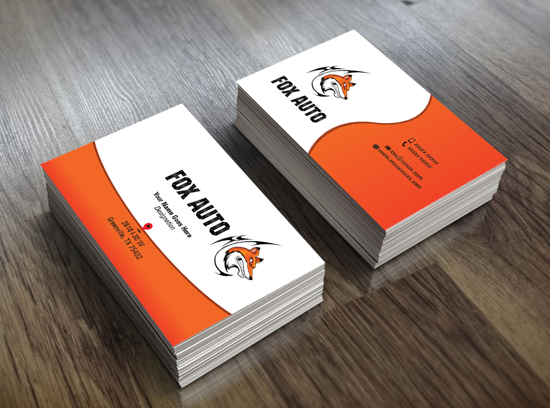 Business business card design for fox auto by perfect logo designs business business card design for fox auto in united states design 7400339 reheart Images