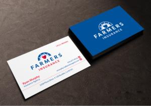 Farmers insurance business cards arts arts 81 masculine business card designs insurance design colourmoves