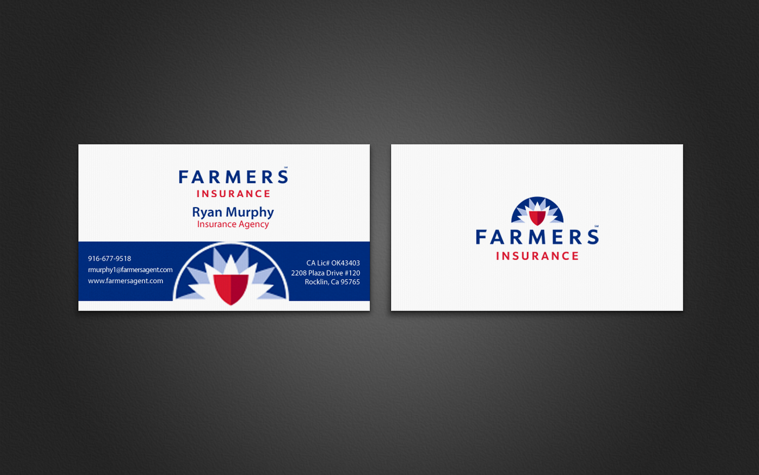 Masculine bold business card design for ryan murphy by business card design by chandrayaaneative for farmers insurance agency design design 7401090 magicingreecefo Gallery