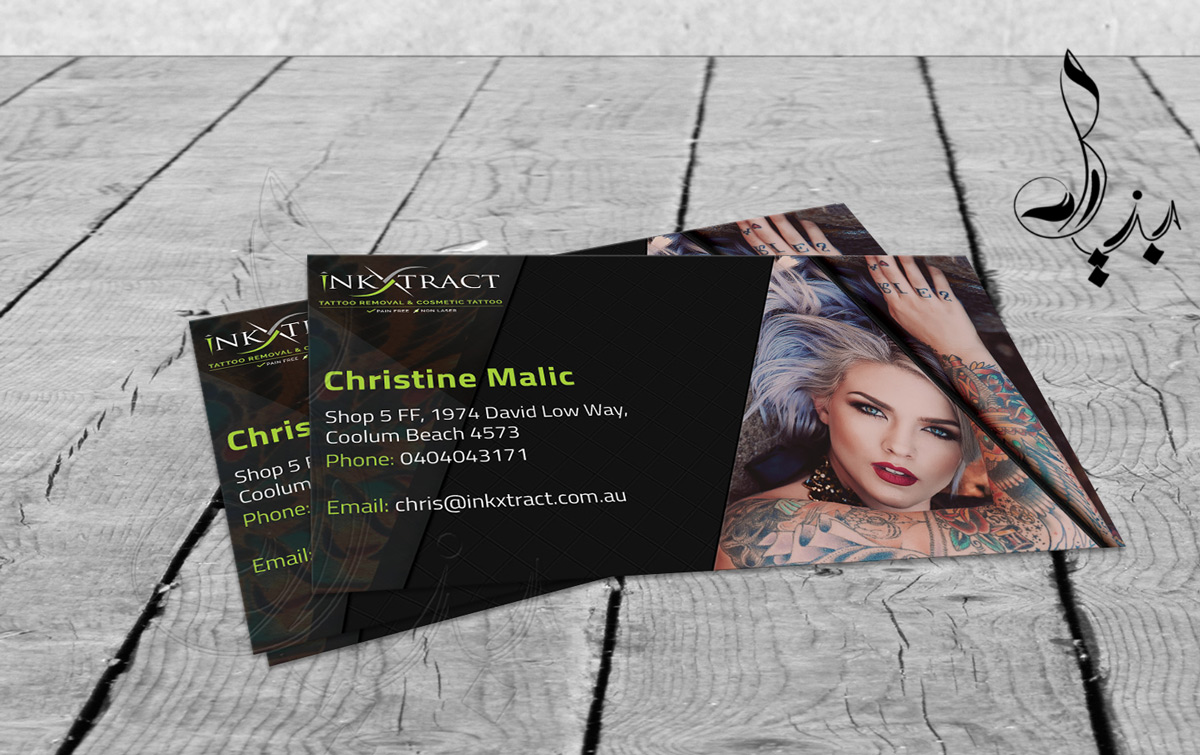 Business card design for extractatatt pty ltd by bia artist business card design by bia artist for tattoo removal cosmetic tattoo design 7413545 magicingreecefo Image collections
