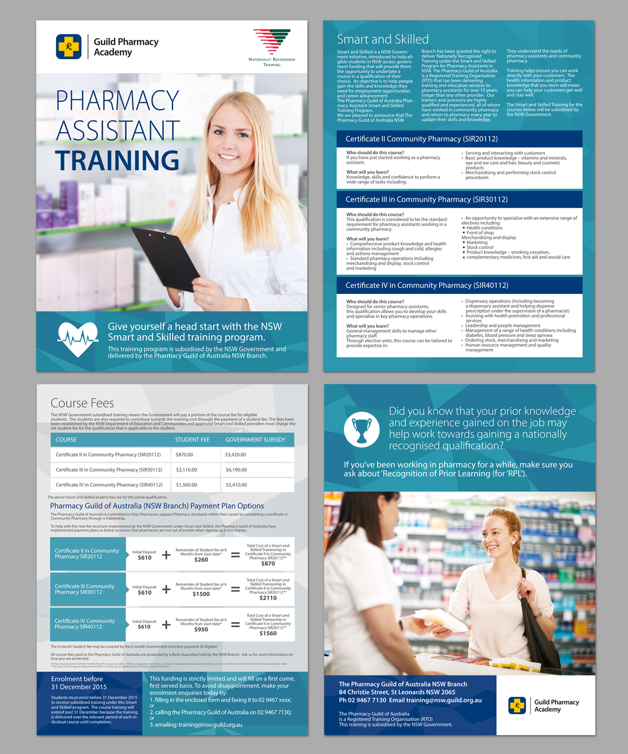 brochure design course - pharmacy flyer design for a company by victor pro design