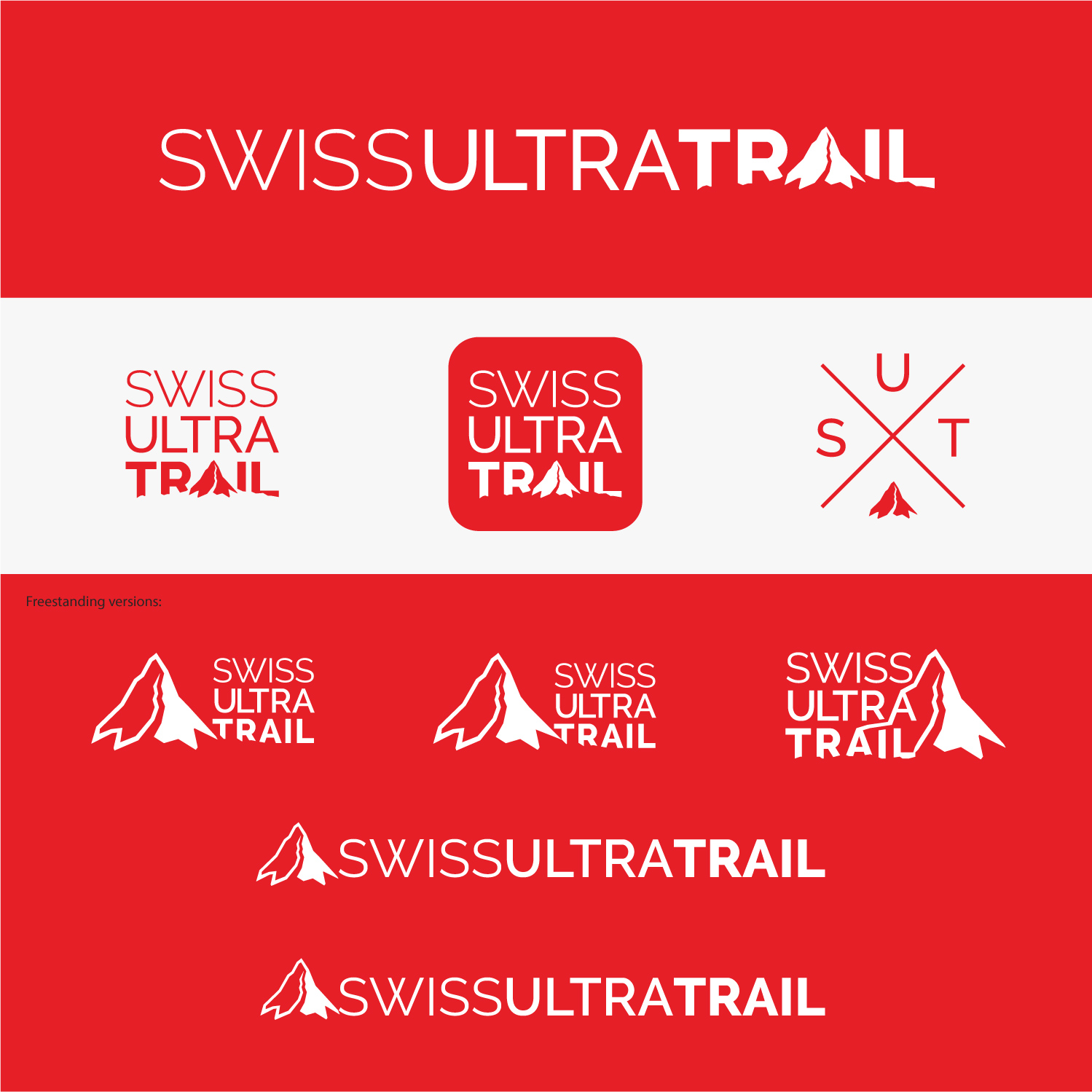 modern bold logo design for swiss ultra trail by dynamo