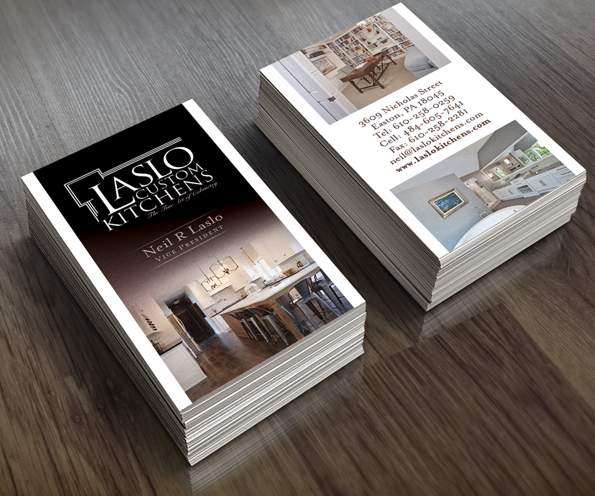 Business Card Design For Custom Cabinet Company 81 Business Card