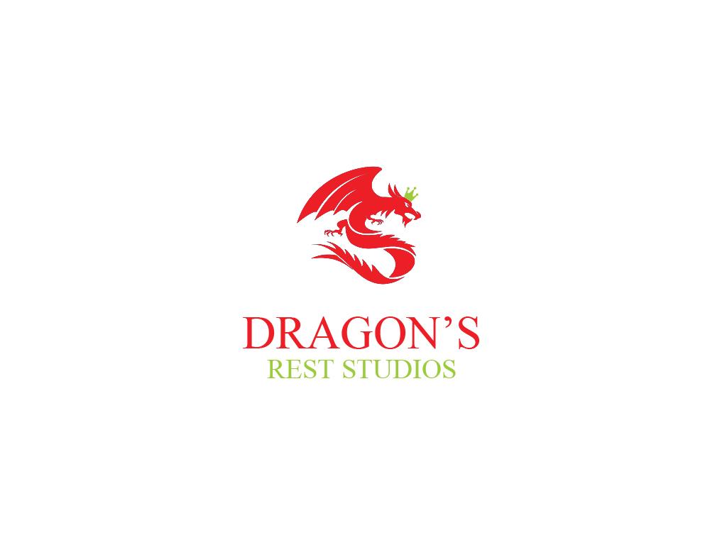 Bold modern logo design for dragon 39 s rest studios by for Ka chengardinen modern ka chen
