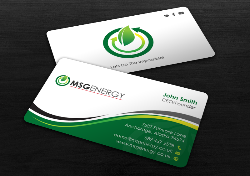 Modern upmarket solar energy business card design for a company by business card design by chandrayaaneative for this project design 12117007 reheart Choice Image